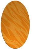 rug #273601 | oval light-orange abstract rug