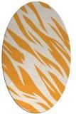 rug #273605 | oval white abstract rug