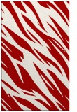 rug #273849 |  red abstract rug