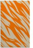 rug #273925 |  orange abstract rug