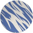 rug #274001 | round blue abstract rug