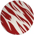 rug #274209 | round red rug