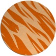 rug #274221 | round red-orange abstract rug