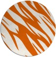 rug #274229 | round red-orange abstract rug