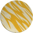 rug #274249 | round yellow abstract rug