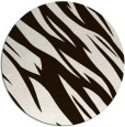 rug #274257 | round brown abstract rug