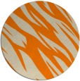 rug #274277 | round orange abstract rug