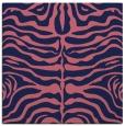rug #274757 | square blue-violet animal rug