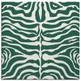 rug #274797 | square blue-green stripes rug