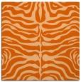 rug #274925 | square red-orange animal rug