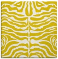 rug #274965 | square yellow stripes rug
