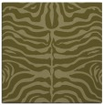 rug #274997 | square light-green animal rug