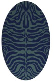 rug #275049 | oval blue animal rug