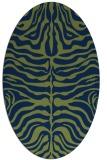 rug #275053   oval green animal rug