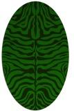 rug #275085 | oval green animal rug