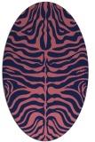 rug #275109 | oval blue-violet animal rug