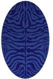 rug #275121 | oval blue-violet stripes rug