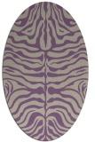 rug #275197 | oval purple stripes rug