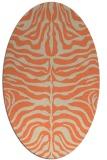 rug #275213   oval beige stripes rug