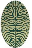 rug #275221 | oval yellow animal rug
