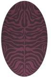 rug #275241 | oval purple stripes rug