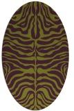 rug #275245 | oval green animal rug