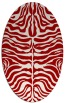 rug #275257 | oval red animal rug