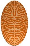 rug #275277 | oval red-orange popular rug