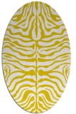 rug #275293 | oval white stripes rug