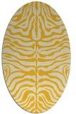 rug #275305 | oval yellow animal rug