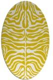 rug #275317 | oval yellow animal rug