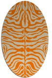rug #275333 | oval orange stripes rug