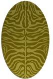 rug #275337 | oval light-green animal rug