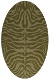 rug #275349 | oval light-green animal rug