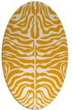 rug #275353 | oval light-orange stripes rug