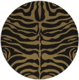 rug #275741 | round mid-brown stripes rug