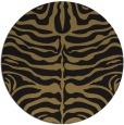 rug #275741 | round mid-brown stripes rug