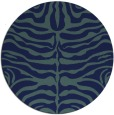 rug #275753 | round blue-green stripes rug