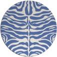 rug #275761 | round blue animal rug