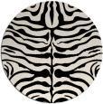 rug #275797   round blue-green animal rug