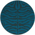 rug #275801 | round blue-green animal rug