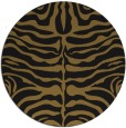 rug #275837 | round black stripes rug