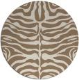 rug #275873   round beige stripes rug
