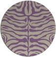 rug #275901   round purple stripes rug