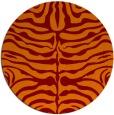 rug #275909   round red-orange animal rug