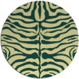 rug #275925 | round yellow stripes rug