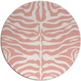 rug #275941 | round white stripes rug