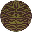 rug #275949 | round purple animal rug