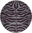 rug #275957 | round purple animal rug