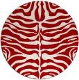 rug #275961 | round red animal rug
